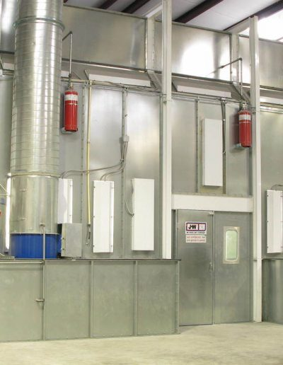 RTT Engineered Solutions Side Downdraft Paint Booth