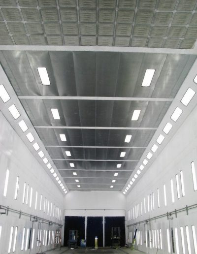 RTT Engineered Solutions Modified Downdraft Paint Booth