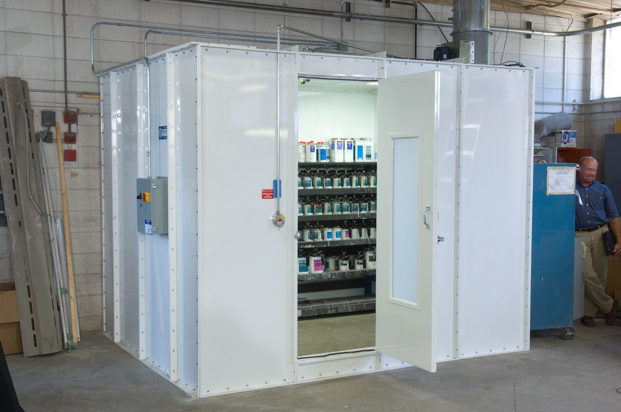 RTT Engineered Solutions Automotive Paint Mixing Room