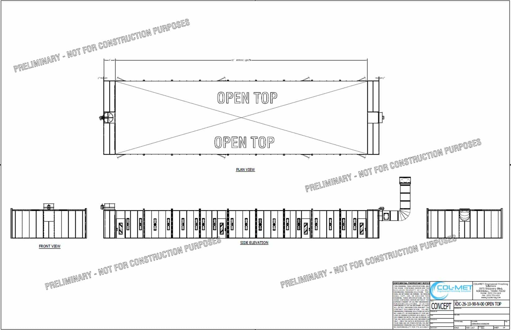 CAVCO Paint Booth CAD Drawing